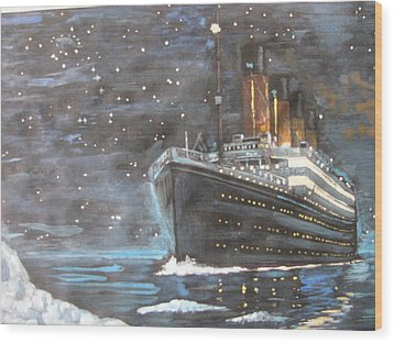 Wood Print featuring the painting Titanic Heading To Disaster by Vikram Singh
