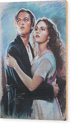 Titanic Jack And Rose Wood Print