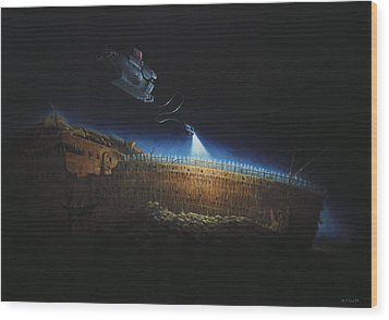 Titanic Wreck Save Our Souls Wood Print by Martin Davey
