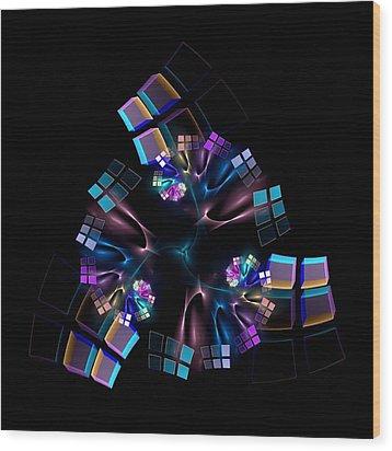 Titanium Crystals Wood Print by Lea Wiggins