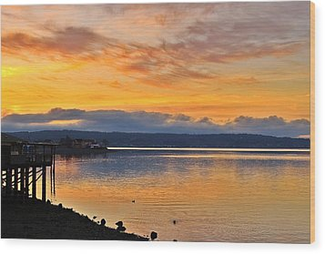 Wood Print featuring the photograph Titlow Beach by Lynn Hopwood