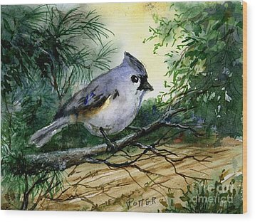 Titmouse Wood Print