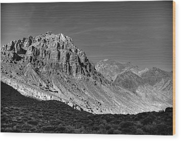 Titus Canyon Peak Wood Print by Peter Tellone