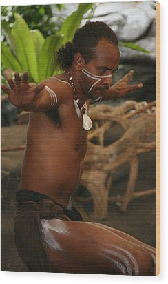 Tjapukai Dance  Wood Print by Cecelia Helwig