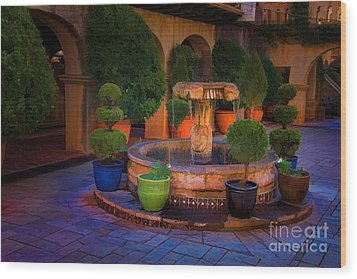 Tlaquepaque Fountain Wood Print by Jon Burch Photography