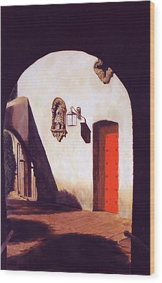 Wood Print featuring the painting Tlaquepaque by Rick Fitzsimons
