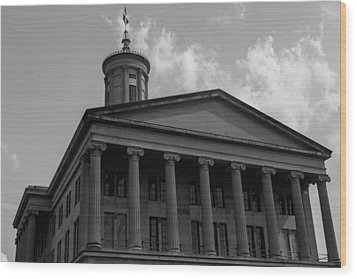 Wood Print featuring the photograph Tn State Capitol by Robert Hebert