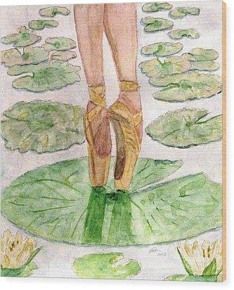 To Dance Wood Print by Angela Davies