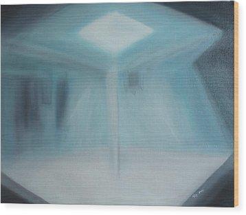 A Loner Wood Print by Min Zou
