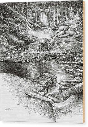 To Laurel Falls Wood Print by Bob  George