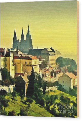 To Prague With Love... Wood Print