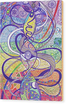 To See A World In A Dna Strand Wood Print by Ty DAvila