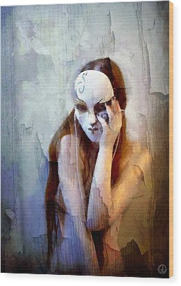 To Show The Body But Hide The Face Wood Print by Gun Legler