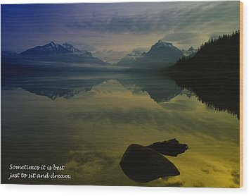 To Sit And Dream Wood Print by Jeff Swan