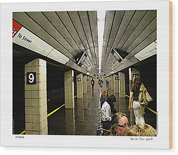 Wood Print featuring the photograph To Street by Kenneth De Tore