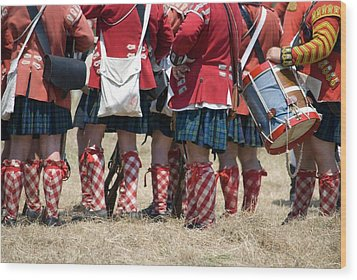 To The Feet Of A Differant Drummer Wood Print by Jim Cook