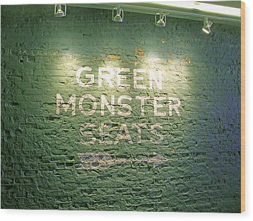 To The Green Monster Seats Wood Print by Barbara McDevitt
