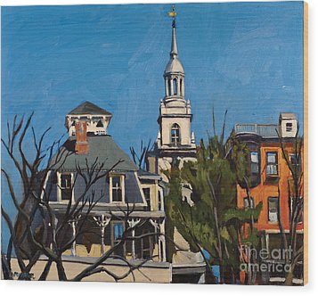To The Heights Wood Print by Deb Putnam