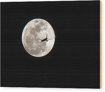 Wood Print featuring the photograph To The Moon by J Anthony