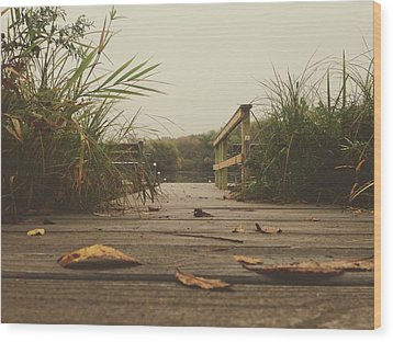 Wood Print featuring the photograph To The Pier by Nikki McInnes