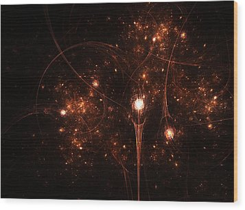 To The Stars And Back Wood Print by Steve K