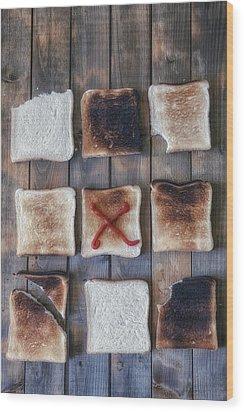 Toast Wood Print by Joana Kruse