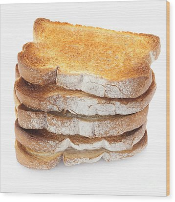 Toast Stack Wood Print by Colin and Linda McKie