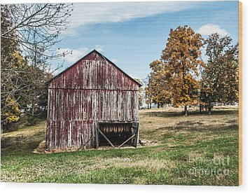 Wood Print featuring the photograph Tobacco Barn Ready For Smoking by Debbie Green