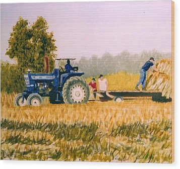 Tobacco Farmers Wood Print
