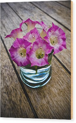 Tobacco Flowers Wood Print by Frank Tschakert