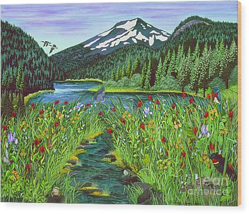 Todd Lake Mt. Bachelor Wood Print
