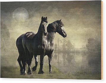 Together Wood Print by Annie Snel