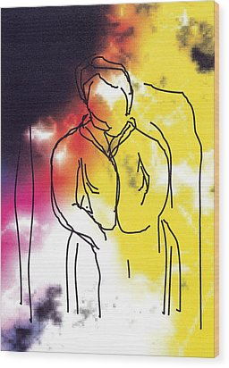Together Wood Print by Bjorn Sjogren