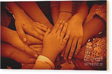 Together Wood Print