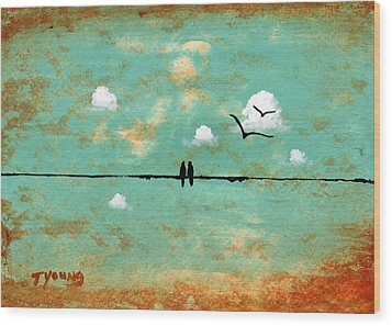 Together Wood Print by Todd Young
