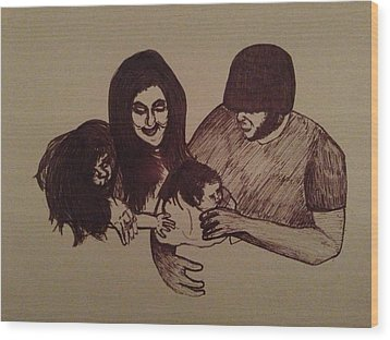 Togetherness Is Means Apart Wood Print by Ellie Philpotts