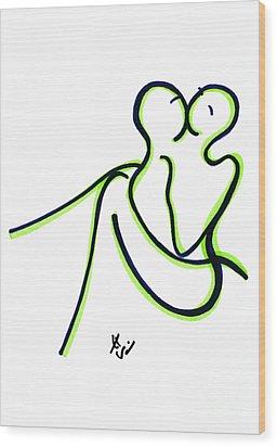 Toi Et Moi Wood Print