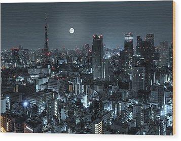 Tokyo 14 Wood Print by Tom Uhlenberg