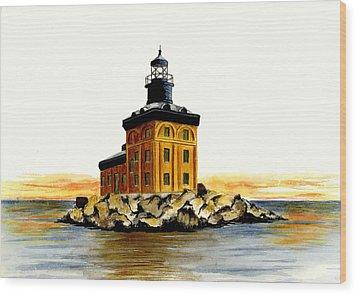 Toledo Harbor Lighthouse Wood Print by Michael Vigliotti