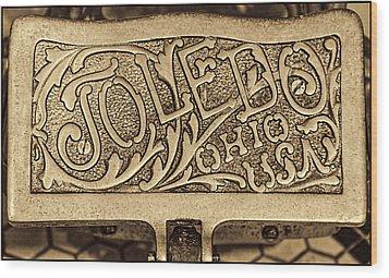 Toledo Ohio Usa Art Gold Wood Print by LeeAnn McLaneGoetz McLaneGoetzStudioLLCcom