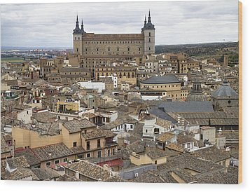 Wood Print featuring the photograph Toledo Spain Cityscape by Nathan Rupert