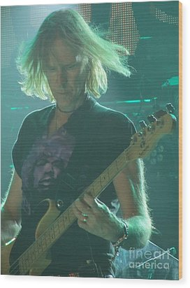 Wood Print featuring the photograph Tom Hamilton On Guitar by Jeepee Aero