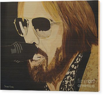 Tom Petty Wood Print by Stuart Engel