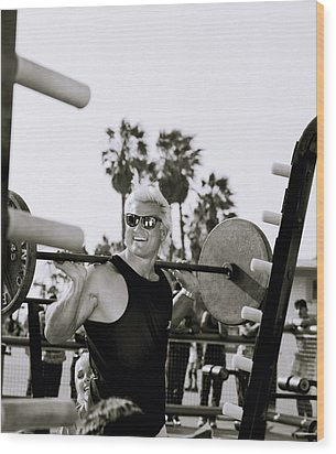 Tom Platz In Los Angeles Wood Print