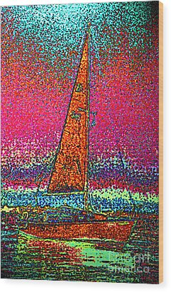 Tom Ray's Sailboat 3 Wood Print by First Star Art