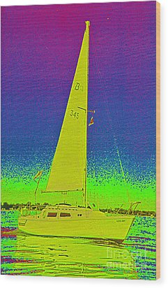 Tom Ray's Sailboat Wood Print by First Star Art