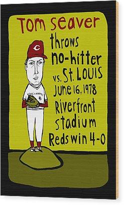 Tom Seaver Cincinnati Reds Wood Print by Jay Perkins