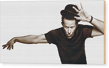 Tom Waits Artwork  4 Wood Print by Sheraz A
