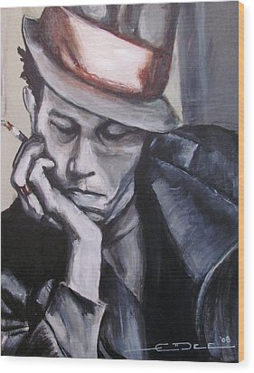 Tom Waits One Wood Print