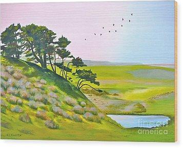 Tomales California Wood Print by K L Kingston